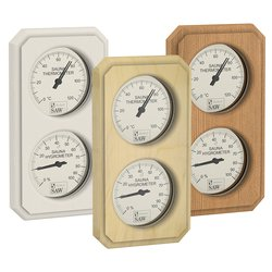 Sawo Thermo-Hygrometer 221-THV, Rectangular, Vertical