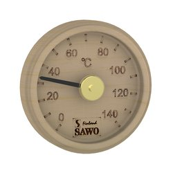 Sawo Thermometer 102-TP, Engraved round, Pine""