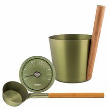"Sauna Accessories Set ""Birch"", 3 parts with pail"