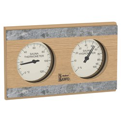 Sawo Thermo-Hygrometer 282-THRD, With stone strip, Cedar""