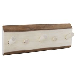 Sawo Wood Cloth Hanger - 3 Holders Aspen Natural