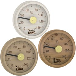 Sawo Thermometer / Hygrometer 102, Engraved round