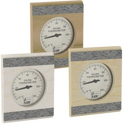 Sawo Thermometer / Hygrometer 280, With stone strip