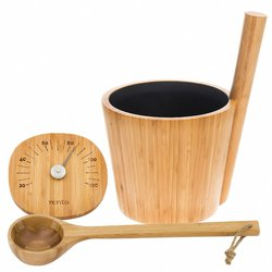 "Sauna Accessories Set ""Bamboo"", 3 parts"