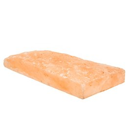 Himalayan Salt Tile, front side crushed, 200x100x25mm