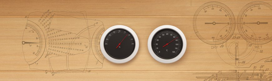 Sauna Thermo- and hygrometers, Clocks