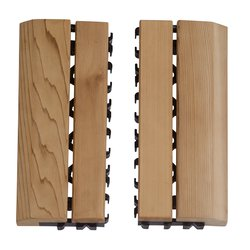 Sawo Wooden Floor Mat Side Frame with Plastic Cedar (Set)