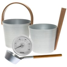 "Sauna Accessories Set ""Aluminum"", 3 parts"