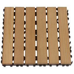 Sawo Wooden Floor Mat Block, Cedar