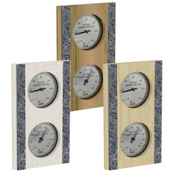 Sawo Thermo-Hygrometer 283-THR, With stone strip, Vertical